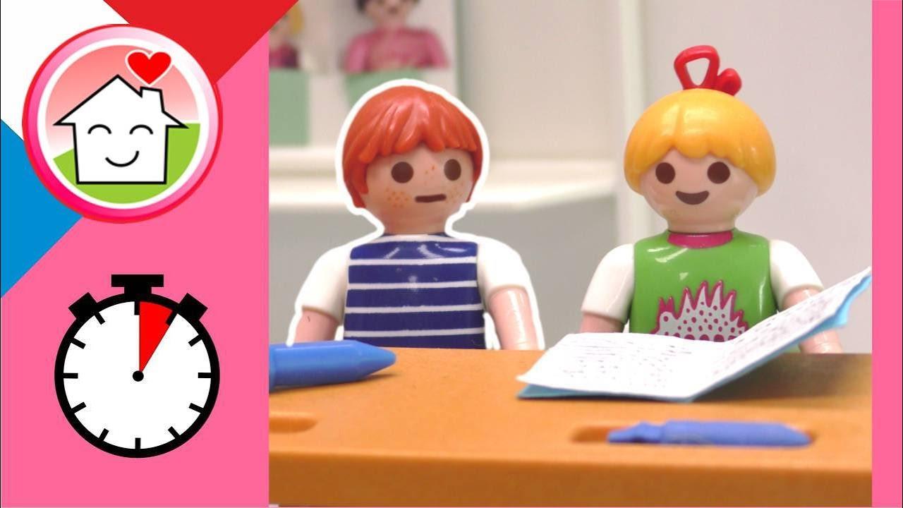 Playmobil en francais blagues - Malte ne veut pas être puni par son professeur - Famille Hauser