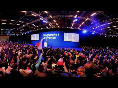 VIDEO 360 : First round of the French election, centrist Macron celebrates