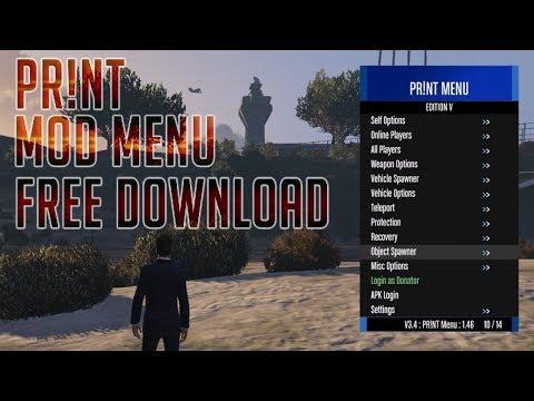 GTA V Online 1.46 PR!NT V3.4 | GTA 5 Mod Menu PC + Free Download | Undetected