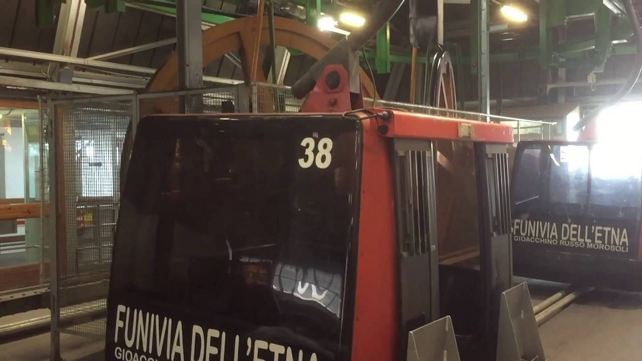 Mount Etna Cable Cars 03 09 2016 Youtube