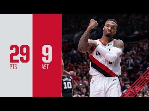 Damian Lillard (29 points) Highlights vs. San Antonio Spurs   October 20, 2018