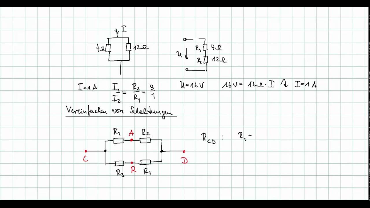 Grundlagen der Elektrotechnik - Vereinfachung von Schaltungen - YouTube