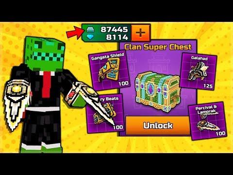 Pixel Gun 3D | Spending 87,000 SILVER On 2 Clan Super Chest Weapons!