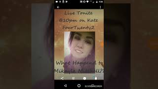 LIVE TONITE @10pm on Kate FourTwenty2