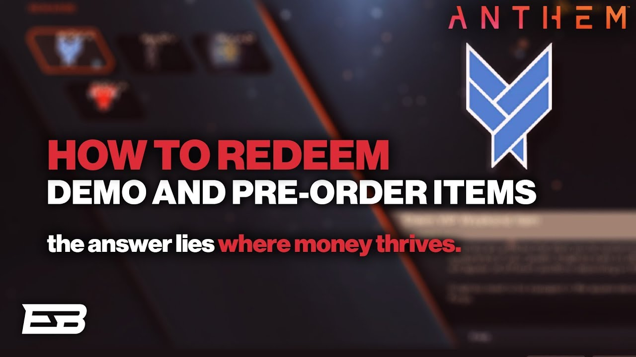 HOW TO REDEEM DEMO & PRE-ORDER REWARDS IN ANTHEM! // Anthem Guide