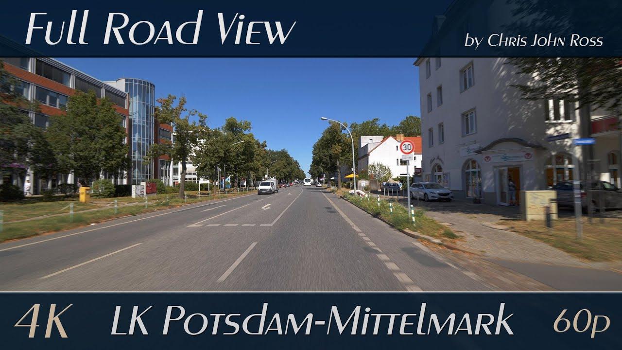 Download Stahnsdorf - Teltow, LK Potsdam-Mittelmark, Germany: Wilhelm-Külz-Straße, Potsdamer Straße - 4K UHD