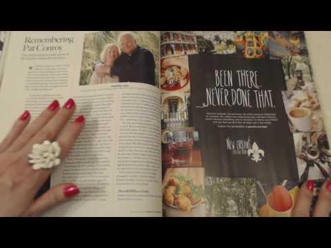 ASMR Soft Spoken ~~ Magazine Reading ~ Southern Accent