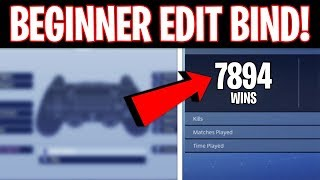 BEST CONSOLE EDIT BIND/BUTTON for BEGINNERS! (Fortnite Console Edit Tips No Claw)