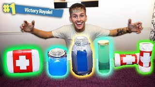MAKING RARE FORTNITE ITEMS IN REAL LIFE! CHUG JUG, MED KIT and MORE