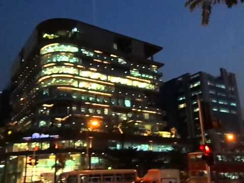 bombay city area bandra kurla complex at night vision
