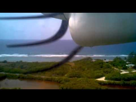 Flying into Little Cayman Island