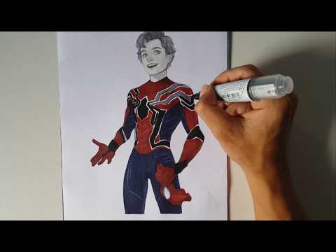 Iron Spider Peter Parker Spider Man Homecoming Coloring Pages