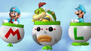 New Super Mario Bros. Wii - All Airship Levels (2 Player) thumbnail