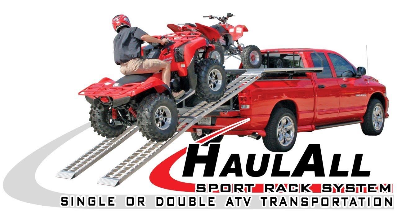 Atv Truck Ramps >> HaulAll - Sports Rack System - YouTube