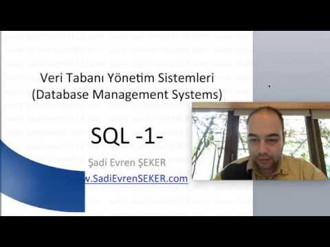 SQL - 1  (Veri Tabanı Eğitim Serisi 3)