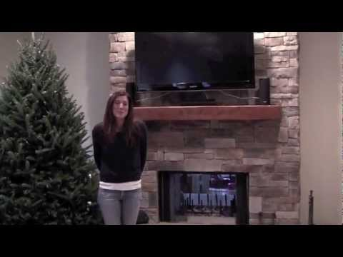 Ledge Stone Fireplace with TV, Lake County IL.mov - YouTube