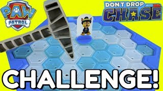 DON'T BREAK THE ICE CHALLENGE PAW PATROL!  Don't Drop Chase Game Challenge! Kids FUN!