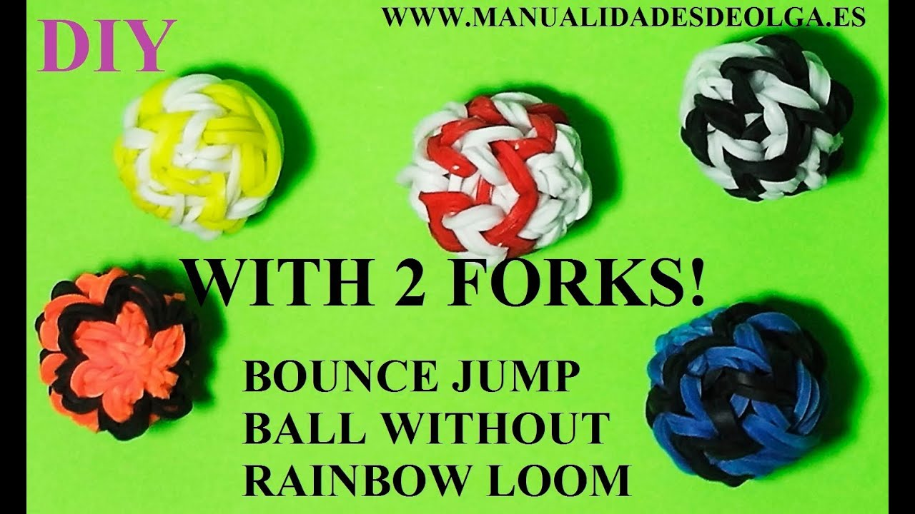 How To Make Bouncy Balls Toy With Two Forks Without Loom
