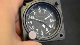 "Original aircraft clock "" Lémania ""  I.A.F AIR FORCE  Military AirCraft   737L"