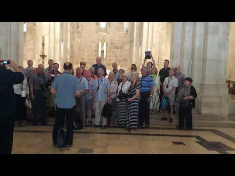 ISRAEL TOUR - SINGING IN ST ANNES AT JERUSALEM