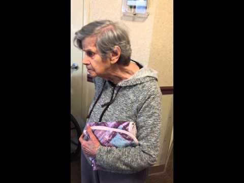 Crazy old lady vs Comcast techs
