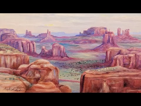 Desert Canyon Landscape Acrylic Painting LIVE Tutorial