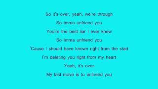 Greyson chance-unfriend you[lyrics]/w download link in description