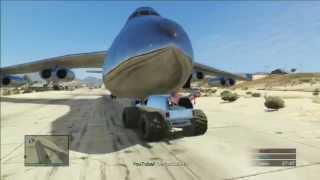 Como conseguir cargoplane cromado | GTA V ONLINE | Avion GIGANTE | Biggest plane PS3 y PS4