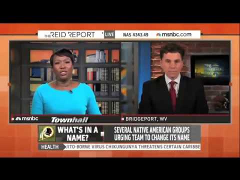 "Joy Reid ""Warns"" MSNBC Viewers That ""Racial Slur"" Redskins Will Be Said During Segment"