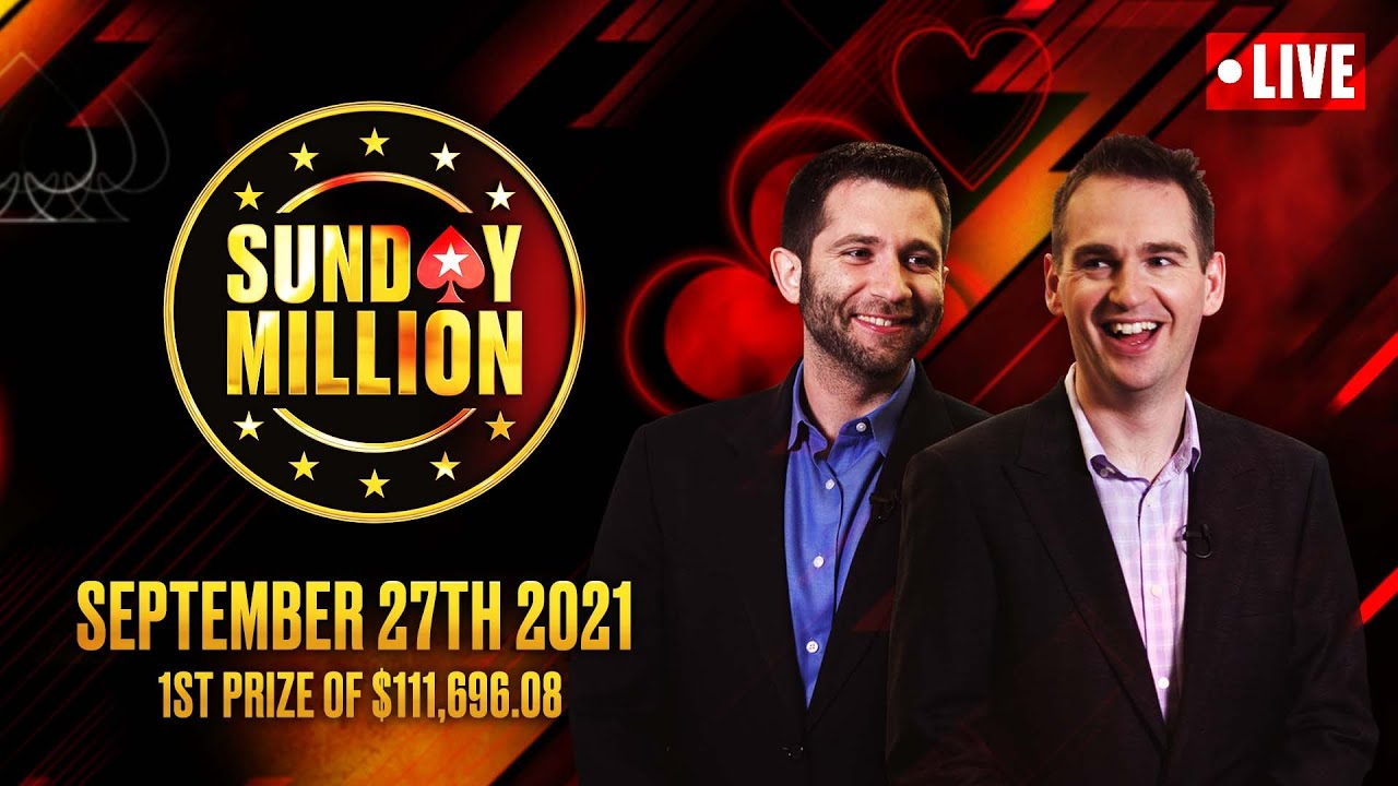 Download $54.50 HALF PRICE SUNDAY MILLION!! $1M GTD! ♠️ Hosted by Hartigan, Stapes & Walsh! ♠️ PokerStars