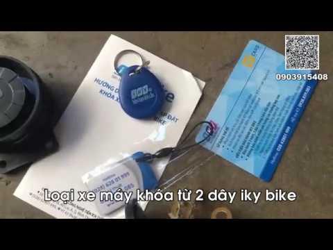 Chia Sẽ Cách Lắp đặt Khóa Từ Chống Trộm Xe Máy Loại 2 DÂY #iky Bike