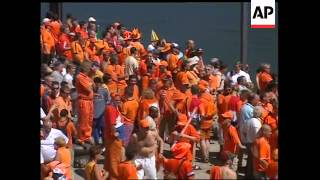 Dutch and German Euro 2004 fans before match