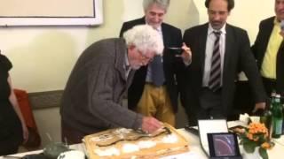 PREMIO MARTINICCA, BREVE VIDEO DEL MAESTRO GUASTI MENTRE DISEGNA LA TORTA IN DIRETTA - AGIPRESS