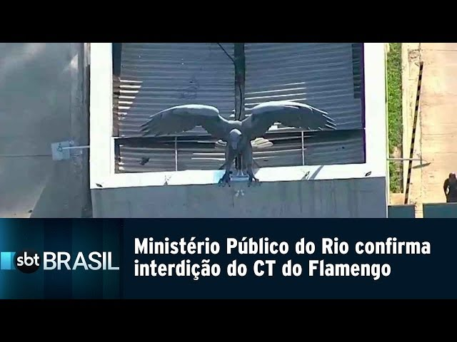 Ministério Público do Rio confirma interdição do CT do Flamengo | SBT Brasil (15/02/19)