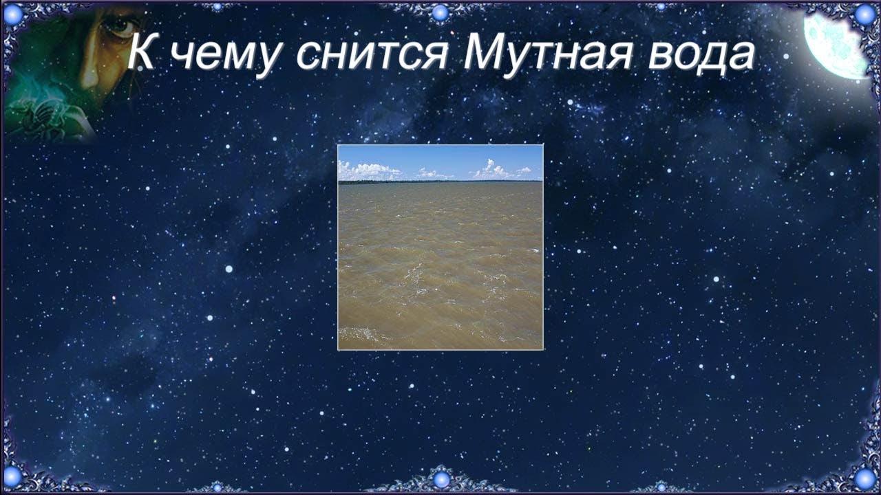 К чему снится Мутная вода (Сонник)
