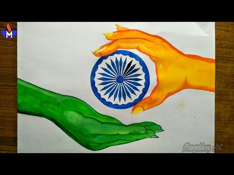 Independence Day Drawing.(15th August )...MANGALDEEP ART