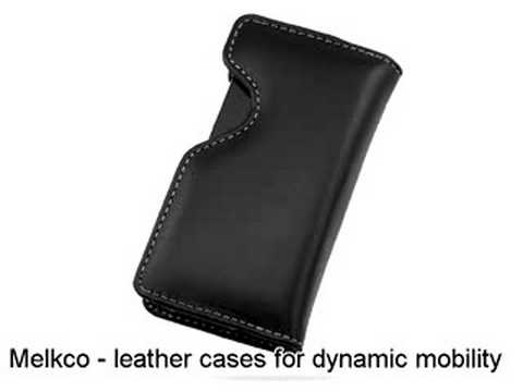 Melkco Tasche Leder Etui cuir ~HTC Touch Diamond/HTC Diamond 100/HTC P3700/HTC P3701/HTC P3702 Victor/T-Mobile MDA Compact IV Pouch Holder Type (Black)