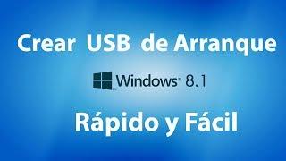Cómo Crear USB booteable  para Windows 8.1 Desde Cero y Fácil