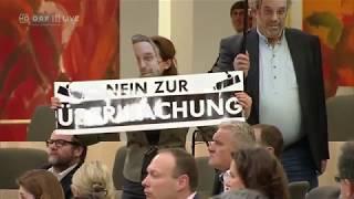 Liste Pilz protestieren gegen Überwachungspaket | Nationalrat 28.02.2018