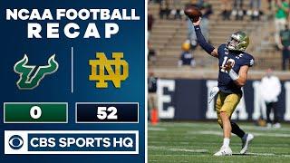 South Florida vs #7 Notre Dame: NCAA Football Recap   09-19-2020   CBS Sports HQ