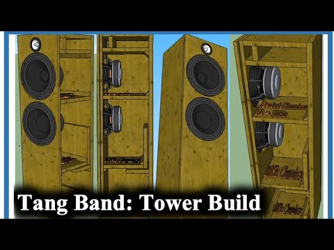 Tang Band 3 Way Tower: With 6th Order Bass Reflex