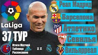 Ла Лига 37 Тур Итоги матчей Чемпионат Испании 2019 2020 Реал Мадрид Чемпион сезона 2019 2020
