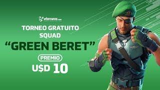 "FORTNITE TORNEO ""GREEN BERET"" FREE AWARD USD 10! *SATURDAY 19:30 (ARG) GTM-3*"