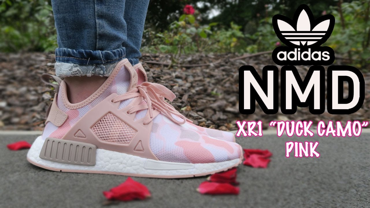 Wife's NMD XR1 Pink Camo unboxing and on feet review