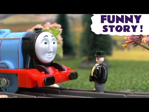Thumbnail: Thomas & Friends Tunnel Prank with Tom Moss - Funny Train Toys story for kids and children TT4U