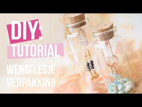 Sieraden maken: Wensflesjes cadeauverpakking ♡ DIY