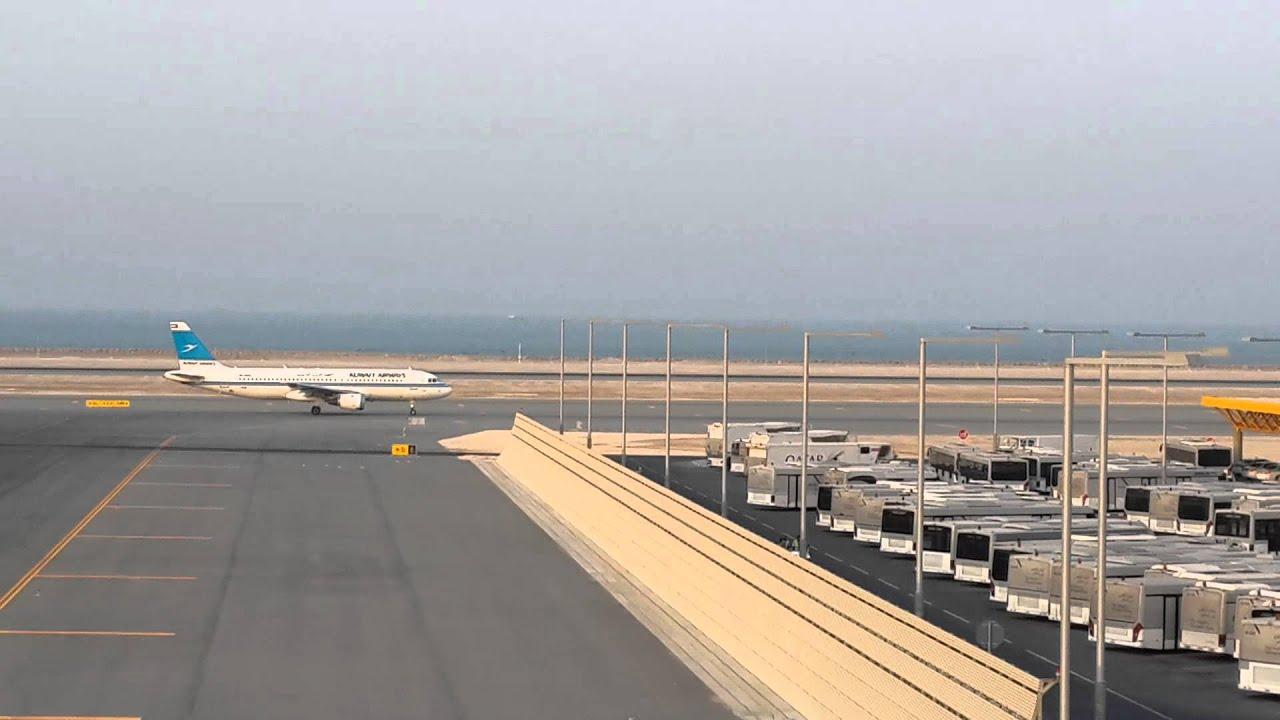 Hamad international airport Qatar airways landing - YouTube  Hamad internati...