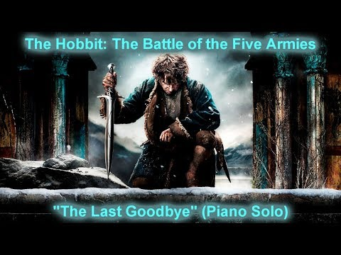 The Last Goodbye - Billy Boyd - Piano Cover (The Hobbit: The Battle of the Five Armies)
