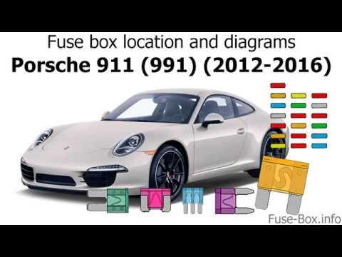 Fuse box location and diagrams: Porsche 911 (991) (2012