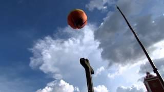 Flying balloon burning